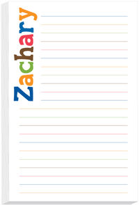Letter Hues Boy Note Pad