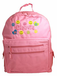 Peace and Love Embroidered  Backpack