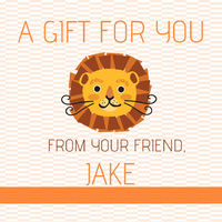 Lion Gift Stickers