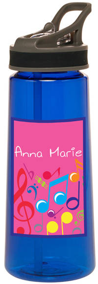 Bright Notes Fuchsia Water Bottle