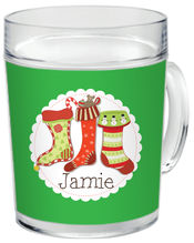Holiday Stockings Clear Acrylic Mug