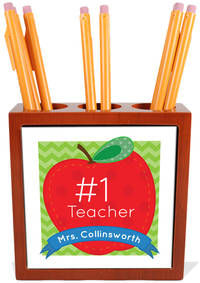 Number One Teacher Pencil and Pen Holder