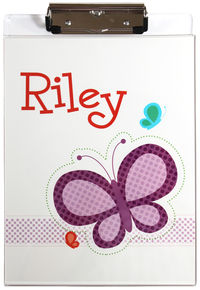 Dotted Butterfly Acrylic Clipboard