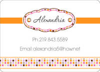 Circles and Squares Citrus Calling Card