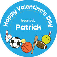 Sporty Valentine's Stickers