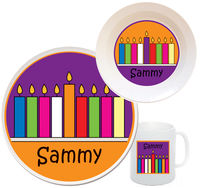 Chanukah Candles Melamine Set