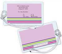 Stripes Lavender Luggage Tag