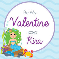 Mermaid Valentine's Stickers