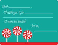 Peppermint Pops Fill-in Card
