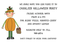 Custom Flat Halloween Invitation CFI