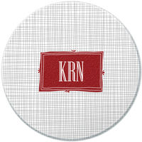 Charcoal Crosshatch Round Glass Cutting Board