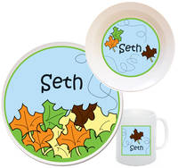 Fall Leaves Melamine Set