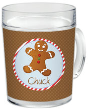 Gingerbread Clear Acrylic Mug Boy