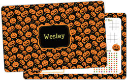 Carved Pumpkin Dry Erase Placemat