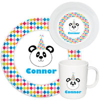 Birthday Panda Melamine Set