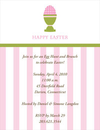 Little Pink Egg Easter Invitation