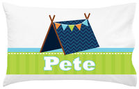Blue Tent Pillowcase