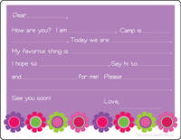 Bright Daisies Camp Fill-in Card