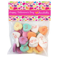 Rainbow Heart Valentine Candy Bag Toppers