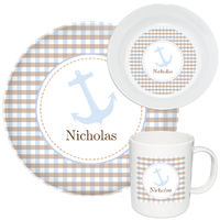 Blue Anchor Melamine Set