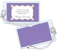 Cafe Lavender Luggage Tag