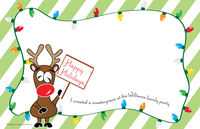 Personalized Kids & Adults Holiday Paper Placemats - Script & Scribble