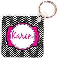 Black Chevron Key Chain