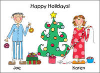 Holiday Custom Foldover Note Card Horizontal H-CFOC
