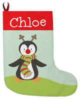 Red Nose Penguin Christmas Stocking