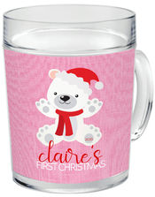 First Christmas Bear Pink Acrylic Mug