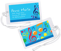 Bright Notes Aqua Luggage Tag