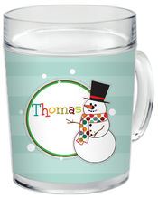 Mr. Snowman Clear Acrylic Mug