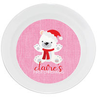 First Christmas Bear Pink Bowl