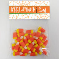 Spiderweb Orange Candy Bag Toppers