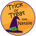 Witch Hat Gift Stickers