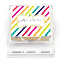 Candy Stripes Sticky Note Holder