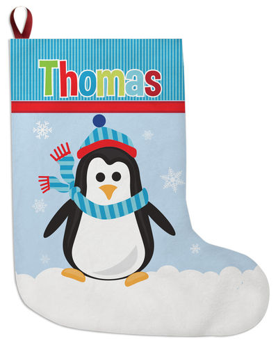 penguin boy christmas stocking
