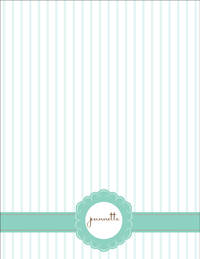Striped Abstract Large Notepad