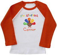 Baby Turkey Embroidered Ringer Shirt