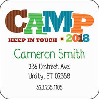 Camp Friends Boy Calling Card