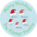 Santa Hat Round Gift Stickers