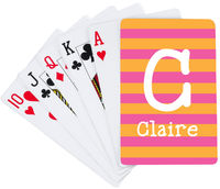 Pink and Orange Initial Playing Cards