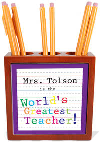 Greatest Teacher Pencil and Pen Holder