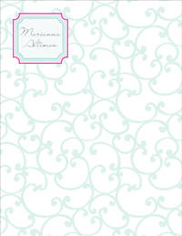 Elegant Curls Large Notepad
