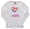 Hearts Embroidered Shirt T202