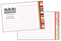 Holiday Recipe Cards for Custom Stamps