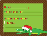 Merry Gator Fill-in Card