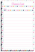 Retro Summer List Pad Too