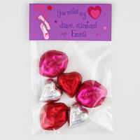 Ballerina Valentines Candy Bag Toppers