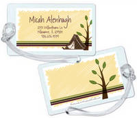 Camp Tent Luggage Tag